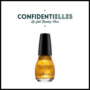 Test de Produit Confidentielles : Vernis This is it de Sinful Colors - anti-crise.fr