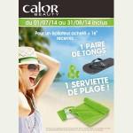 Bon Plan Calor : Pour un épilateur acheté + 1€ recevez des Tongs et une Serviette de plage - anti-crise.fr