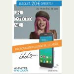 Bon plan Alcatel : Jusqu'à 20 € remboursés pour l'achat d'un IDOL 2 MINI S - anti-crise.fr