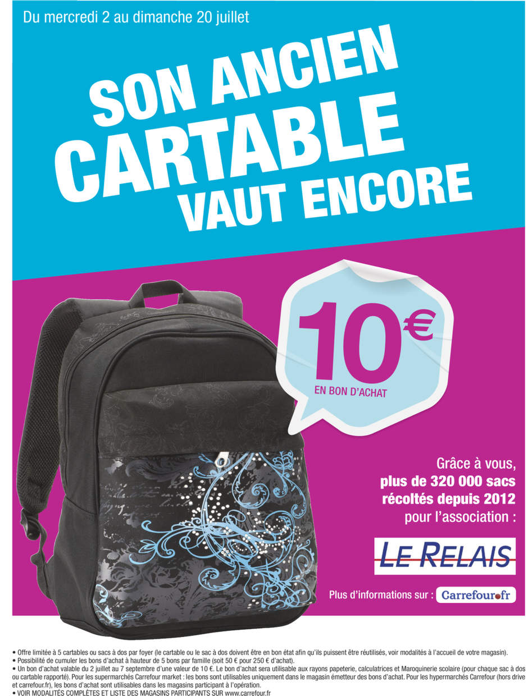 photos officielles 8aeab b9310 Bon Plan pour la Rentrée: Reprise de Cartable 10€ chez ...