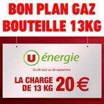 Bon plan bouteille de gaz propone butane à 20 euros chez u