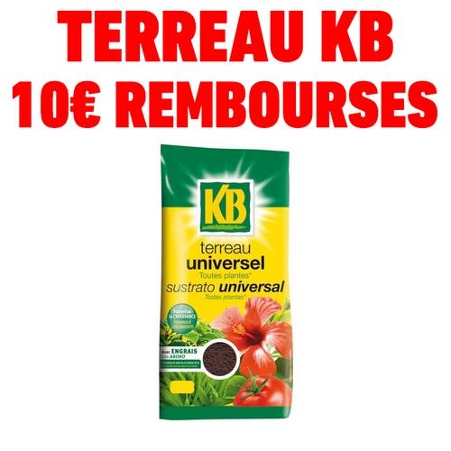 ODR - Offre de remboursement 10€ sur terreau universel kb