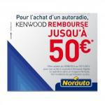 Offre de Remboursement (ODR) Norauto : Jusqu'à 50 € remboursés sur un autoradio Kenwood - anti-crise.fr