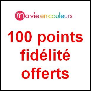 Bon Plan Ma Vie En Couleurs : 100 points fidélité offerts - anti-crise.fr