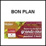 Bon Plan Haier : 3 mois à My Vitibox offerts pour l'achat d'une cave à vin 6 ANTI6CRISE.FR