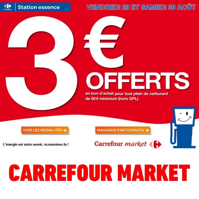 Carte Gazole Carrefour.Bon Plan Carrefour Market Bon D Achat 3 Sur Carburant