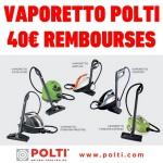 Offre de Remboursement (ODR) Polti : Jusqu'à 40 € pour l'achat d'un Vaporetto - anti-crise.fr