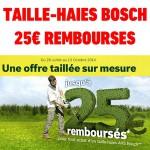 Offre de Remboursement (ODR) Bosch : Jusqu'à 25 € remboursés pour l'achat dun Taille Haies - anti-crise.fr