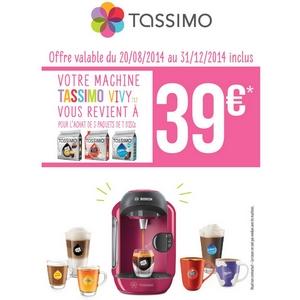 Offre de Remboursement (ODR) Tassimo : Votre machine Vivy T12 à  39 € - anti-crise.fr