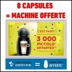 Bon Plan: 8 Boîtes de Capsules Dolce Gusto Achetées = 1 Machine PICCOLO Offerte - anti-crise.fr