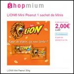 Offre de Remboursement (ODR) Shopmium : LION® Mini Peanut 304g à 2 € - anti-crise.fr