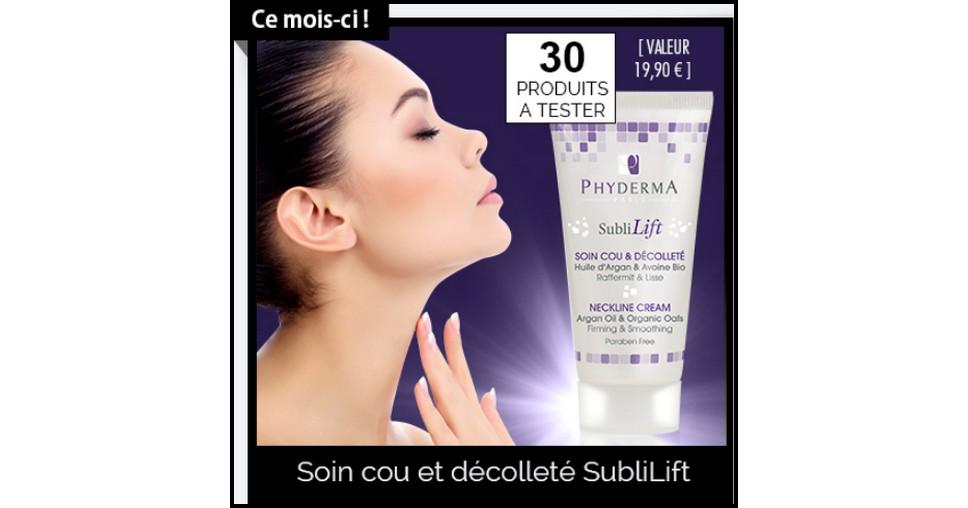 Test de Produit Phyderma : Soin cou et décolleté Sublilift - anti-crise.fr