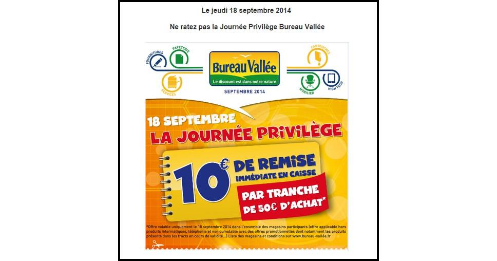 Bon De Reduction Bureau Vallee 10 Par Tranche De 50 D Achat Catalogues Promos Bons Plans Economisez Anti Crise Fr