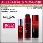 Tirage au Sort Monoprix & l'Oréal : Produits L'Oréal Revitalif Laser à Gagner - anti-crise.fr
