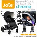 Test de Produit Conso Baby : Poussette Chrome Joie - anti-crise.fr