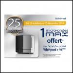 Bon Plan Whirlpool : Un Micro-ondes Max offert pour l'achat d'un produit Whirlpool + 9€99 - anti-crise.fr