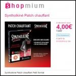 Offre de Remboursement (ODR) Shopmium : Syntholkiné Patch chauffant Petit format à 4 € - anti-crise.fr