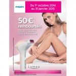 Offre de Remboursement (ODR) Philips : 50 € Remboursés sur Epilateur Luméa - anti-crise.fr