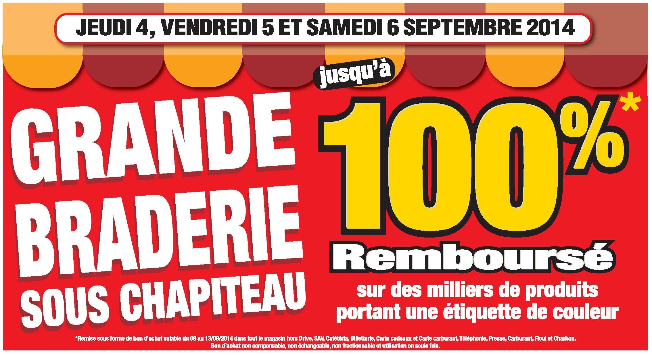 Carte Fidelite Cora Courrieres.Braderie Produits 100 Rembourse En Bon D Achat Chez Cora