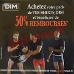 Offre de Remboursement (ODR) Dim : Tee-Shirt Dry & Cool et Thermal 50 % Remboursés - anti-crise.fr
