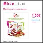 Offre de Remboursement (ODR) Shopmium : Crunchy Muesli raisins & pommes rouges à 1,50 € - anti-crise.fr