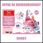 Offre de Remboursement (ODR) Smoby : 5 € sur une Baby Nurse - anti-crise.fr