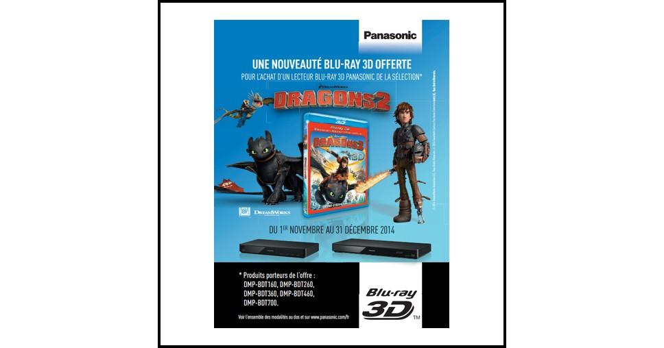 Bon Plan Panasonic : Blu-Ray 3D Dragons 2 Offert pour l'achat d'un lecteur Blu-Ray - anti-crise.fr