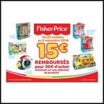 Offre de Remboursement (ODR) Fisher-Price : 15 € Remboursés pour 30 € Achetés - anti-crise.fr