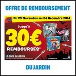 Offre de Remboursement (ODR) Dujardin : Jusqu'à 30 € sur 3 Jeux - anti-crise.fr