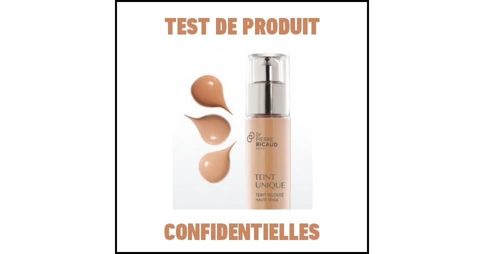 Test de >produit Confidentielles : Teint Unique - Teint velouté haute tenue de Dr Pierre Ricaud - anti-crise.fr
