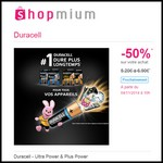 Offre de Remboursement (ODR) Shopmium : 50 % dur Duracell - Ultra Power & Plus Power - anti-crise.fr