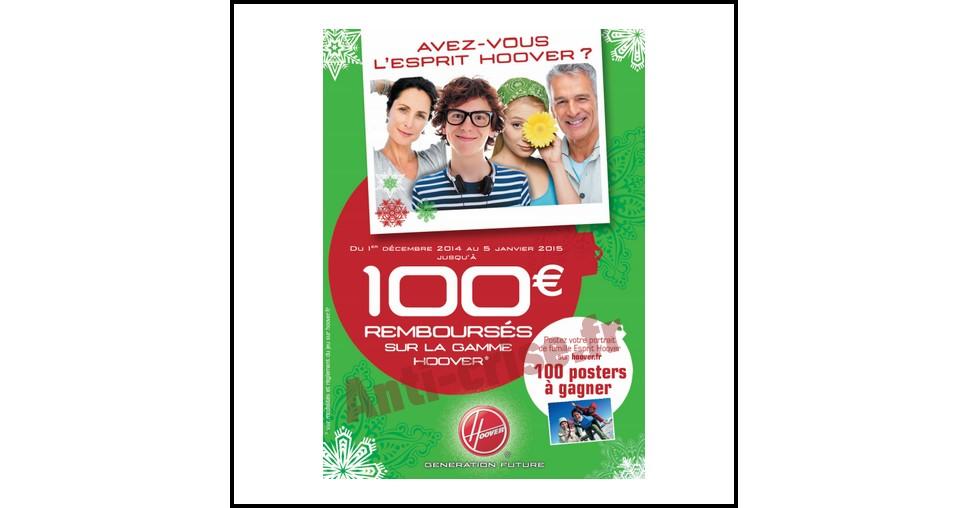 Offre de REmboursement (ODR) Hoover : Jusqu'à 100 € sur la Gamme - anti-crise.fr