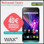 Offre de Remboursement (ODR) Wiko : Jusqu'à 40 € sur un Smartphone Wax - anti-crise.fr
