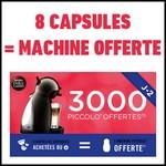 Bon Plan 8 Boîtes de Capsules Dolce Gusto Achetées = 1 Machine PICCOLO Offerte - anti-crise.fr