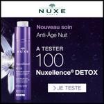 Test de Produit Beauté Test : Nuxellence Détox Nuit de NUXE - anti-crise.fr