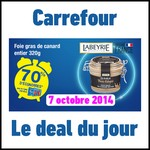 Bon Plan Carrefour : 70 % de remise sur le Foie Gras Labeyrie - anti-crise.fr