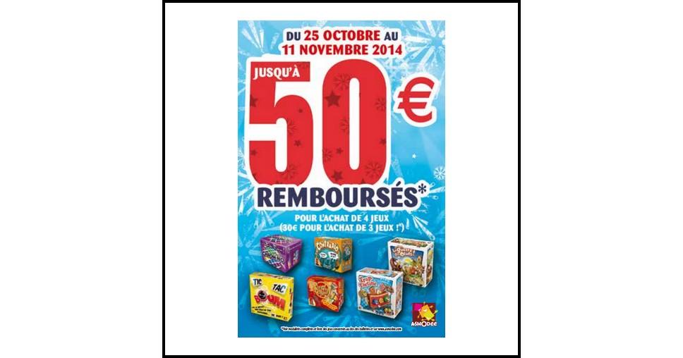 Offre de Remboursement (ODR) Asmodée : 30 € ou 50 € pour 3 ou 4 Jeux Achetés - anti-crise.fr