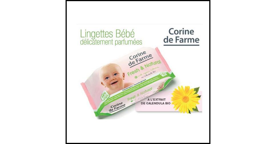 Test de Produit Conso Baby : Lingettes Fresh Natural Corine de Farme - anti-crise.fr