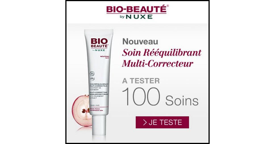 Test de Produit Beauté Test : Soin Rééquilibrant Multi-Correcteur de Bio Beauté by Nuxe - anti-crise.fr