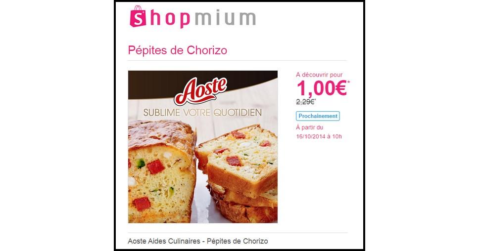 Offre de Remboursement (ODR) Shopmium : Pépites de Chorizo à 1 € - anti-crise.fr