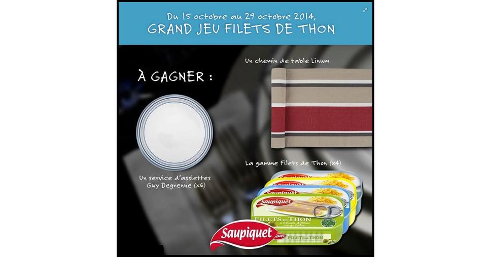 Tirage au Sort Saupiquet sur Facebook :  Six Assiettes Plates en Porcelaine Guy Degrenne à Gagner - anti-crise.fr
