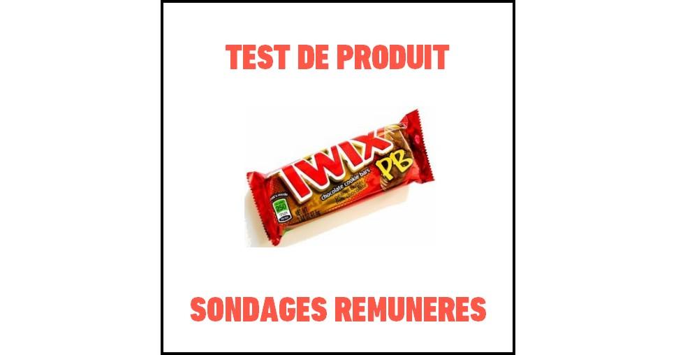 Test de Produit Sondages Rémunérés : Twix Peanut Butter - anti-crise.fr