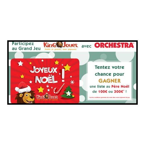 Tirage auSort sur Facebook Orchestra Carte cadeau King Jouet à gagner !