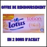 Offre de Remboursement (ODR) Lotus : Mouchoirs Lotion 100 % Remboursé en 2 Bons - anti-crise.fr