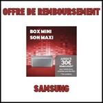 Offre de Remboursement (ODR) Samsung : Jusqu'à 30 € sur Enceintes sans fil portable Level Box Mini - anti-crise.fr