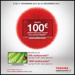 Offre de Remboursement (ODR) Toshiba : Jusqu'à 100€ sur les TV de la série L5 - anti-crise.fr