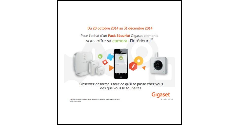 Bon Plan Gigaset : Pack Sécurité Acheté = Caméra d'intérieur Offerte - anti-crise.fr