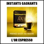 instants Gagnants L'Or Espresso : Coffrets de 3 capsules de café L'OR EspressO à Gagner - anti-crise.fr