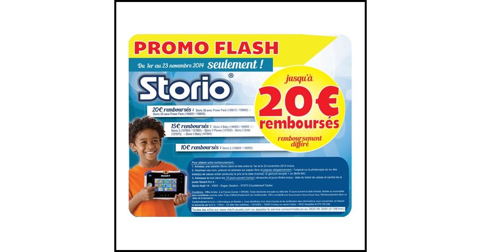 Offre de Remboursement (ODR) VTech : Jusqu'à 20€ remboursés sur votre Storio - anti-crise.fr