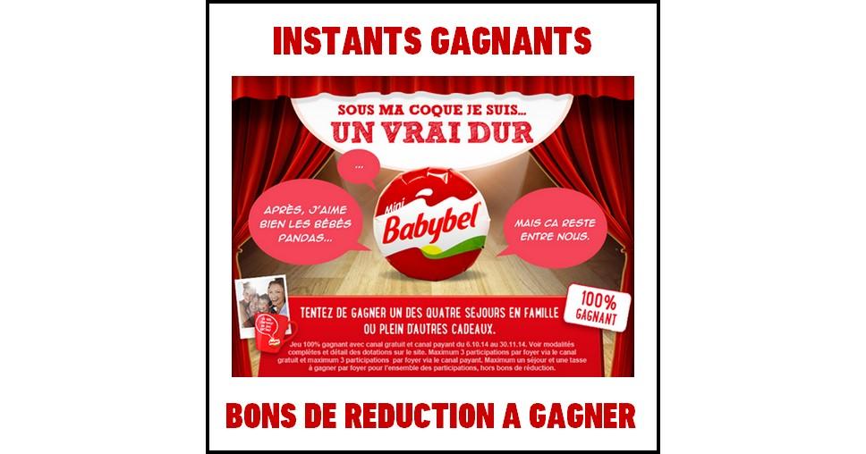 Instants Gagnants Babybel : Bon de Réduction Mini Babybel® de 0,50 € à Gagner - anti-crise.fr